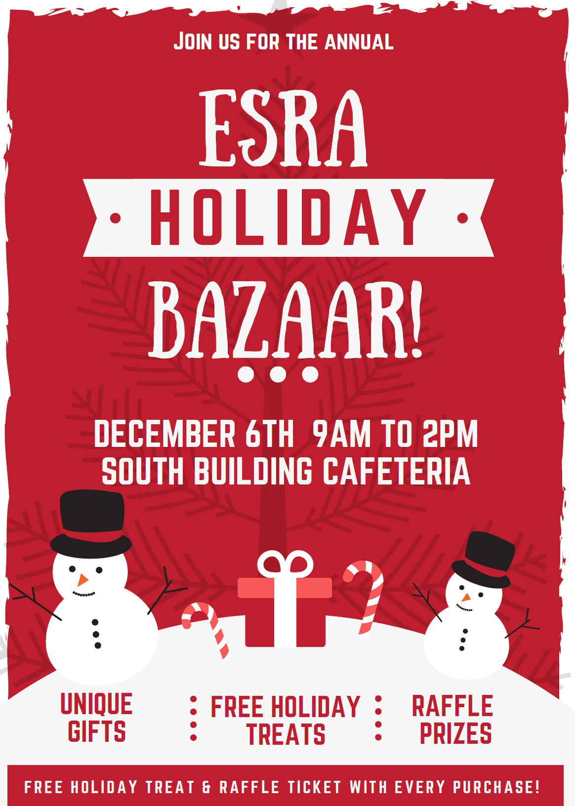 holiday shopping bazaar flyer