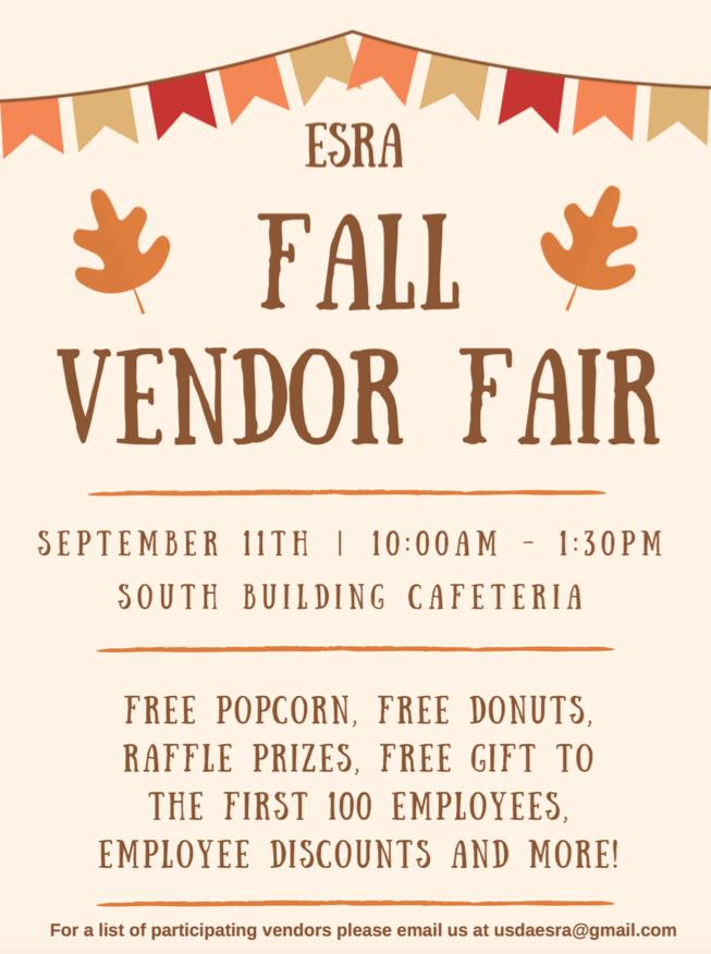 Fall Vendor Fair | USDA Employee Services & Recreation Association